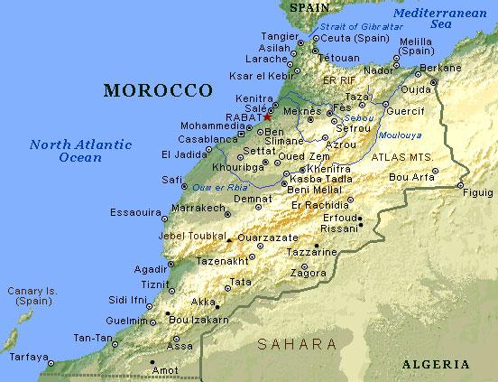 Cartina Muta Marocco.Morocco The High Atlas And The Desert Marocco L Alto Atlante E Il Deserto Claudine Giovannoni