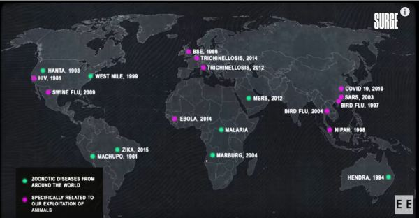 Earthmap of zoonotic diseases